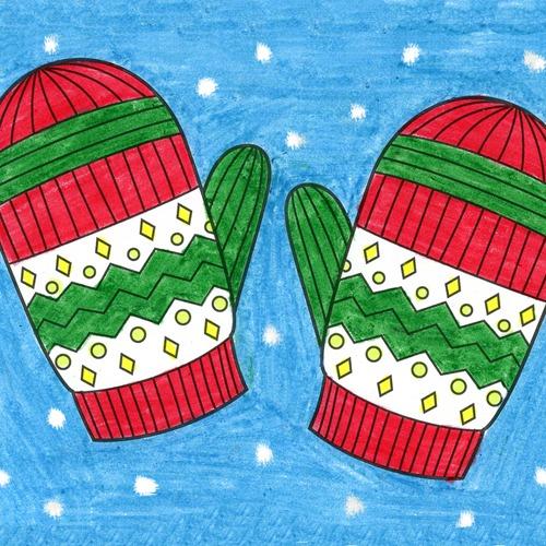 @artprojectsforkids Draw Mittens Link Thumbnail   Linktree