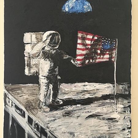 "@TimOzman MOON STAGE 18"" x 24"" Acrylic on Canvas by Tim Ozman Link Thumbnail | Linktree"