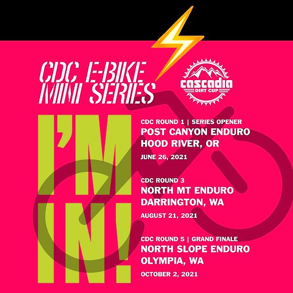 @racecascadia 2021 CDC  E-Bike Mini-Series Link Thumbnail | Linktree