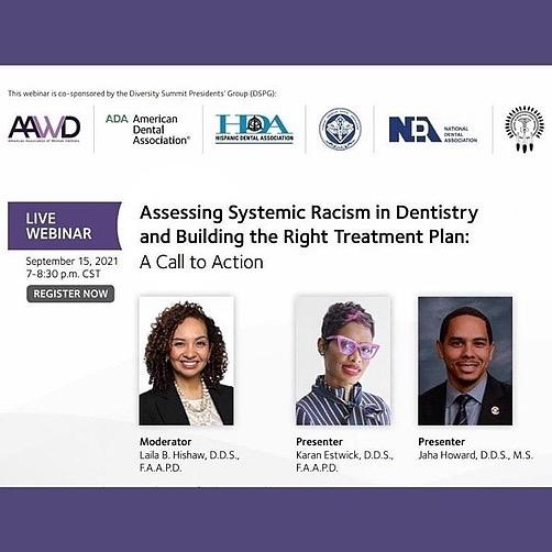 @DiversityinDentistry Assessing Racism in Dentistry Webinar Link Thumbnail   Linktree