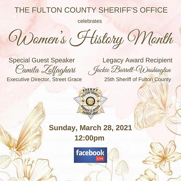 Fulton County Sheriff ICYMI - FCSO's Women's History Month Celebration  Link Thumbnail   Linktree