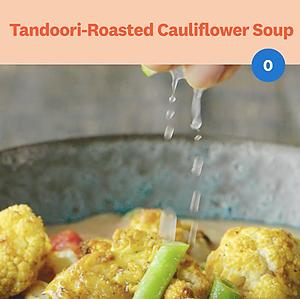 Tandoori Roasted Cauliflower Soup Recipe