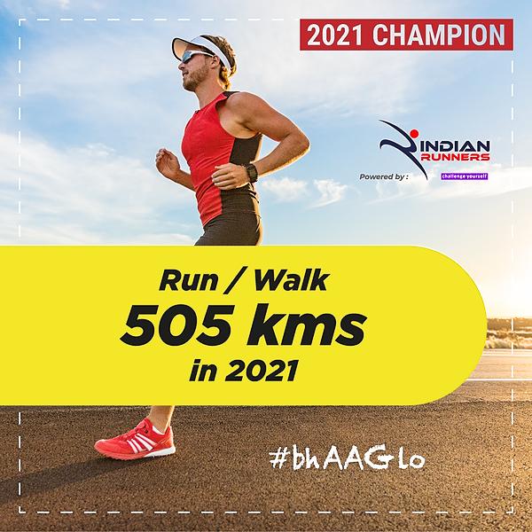 Indian Walkathon Walk 505 Kms in 2021 Link Thumbnail | Linktree