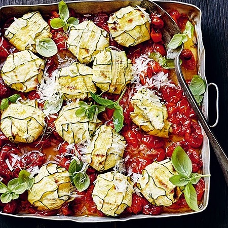 @donna.hay Zucchini three cheese ravioli baked in tomato sauce Link Thumbnail   Linktree