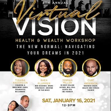 @JermainMiller Mogul Mind Virtual Vision Health & Wealth Workshop Link Thumbnail   Linktree