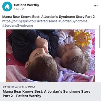 @Mamabearforrare My article on Patient Worthy Link Thumbnail   Linktree
