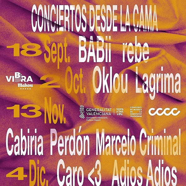 @cero.en.conducta Conciertos desde la cama : Cabiria, Marcelo Criminal y Perdón en Valencia (13.11, CCCC) Link Thumbnail | Linktree