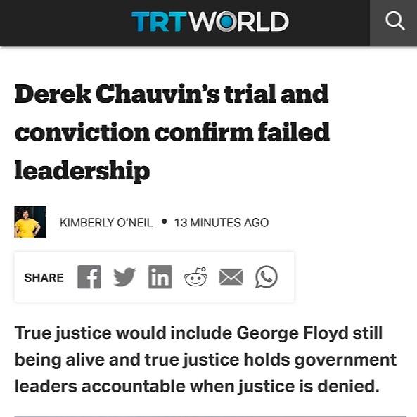 Professor Kimberly O'Neil [Read] Op-Ed: Derek Chauvin's Trial Confirms Failed Leadership Link Thumbnail | Linktree