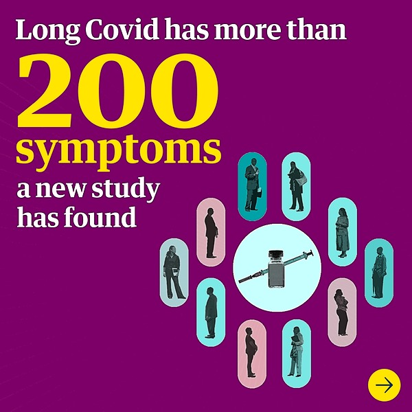 @guardian Long Covid has more than 200 symptoms, study finds Link Thumbnail   Linktree