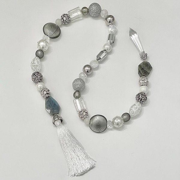 FROSTINGJEWELRY Silver & Crystal Beaded Garland Link Thumbnail   Linktree