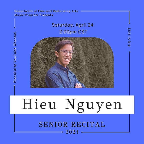 @lucmusicprogram Senior Recital - Hieu Nguyen Link Thumbnail | Linktree