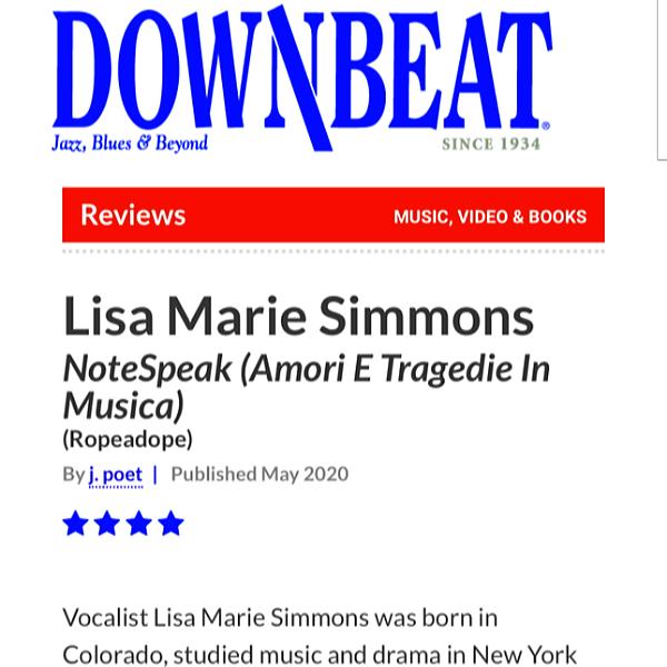 @LisaMarieSimmons Downbeat Review Link Thumbnail | Linktree
