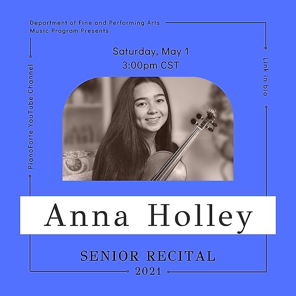 @lucmusicprogram Senior Recital - Anna Holley Link Thumbnail | Linktree