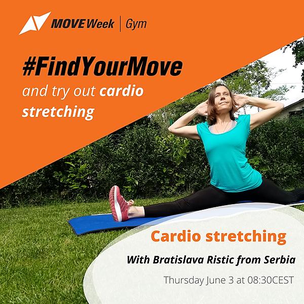 Thu, 8.30 CEST - Cardio Stretching with Bratislava Ristic
