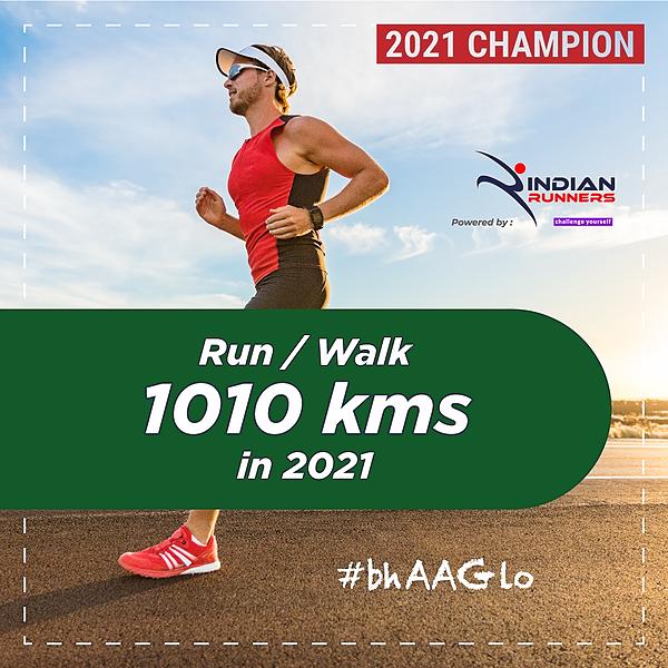 Indian Walkathon Walk 1010 Kms in 2021 Link Thumbnail | Linktree