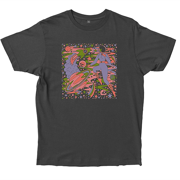 @lauraillustrates Psychedelic Space T-shirt Link Thumbnail | Linktree