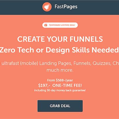 """Costruisci le tue Landing Page con soli 197 $ """"paghi solo 1 volta a vita"""""""