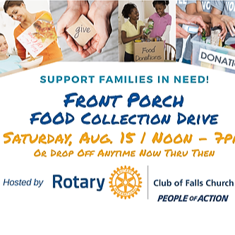 """Front Porch"" Food Collection Drive 08.15.20"