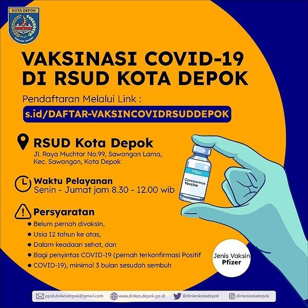 VAKSIN COVID19 RSUD DEPOK (data.pepdinkes) Profile Image | Linktree